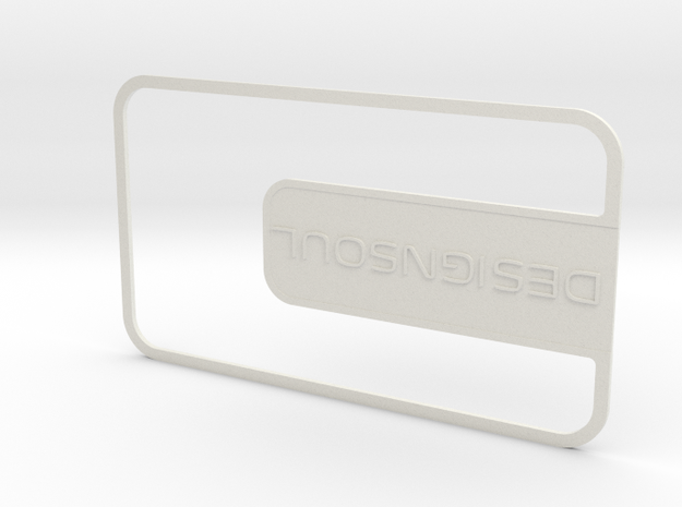 Customizable Businesscard in White Natural Versatile Plastic