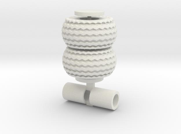 Zigzag Tread 21.5-16 in White Natural Versatile Plastic