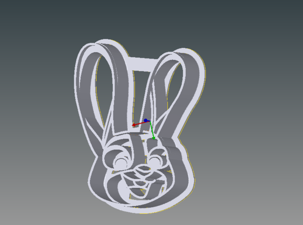 Zootopia's Judy Cookie Cutter in White Natural Versatile Plastic