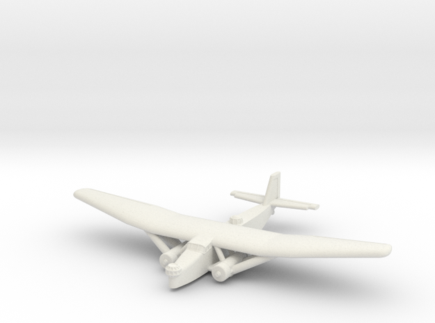 Farman F.222 (1/285) in White Natural Versatile Plastic