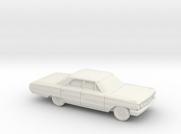 1/87 1964 Ford Galaxie Sedan in White Natural Versatile Plastic