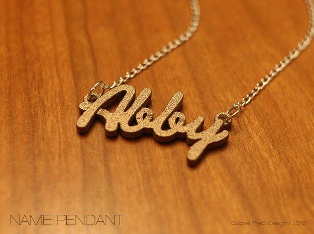 "Name Pendant - ""Abby"" in Stainless Steel"