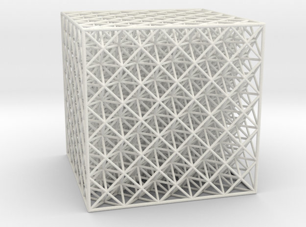 Octet Truss Cube (5x5x5) in White Strong & Flexible