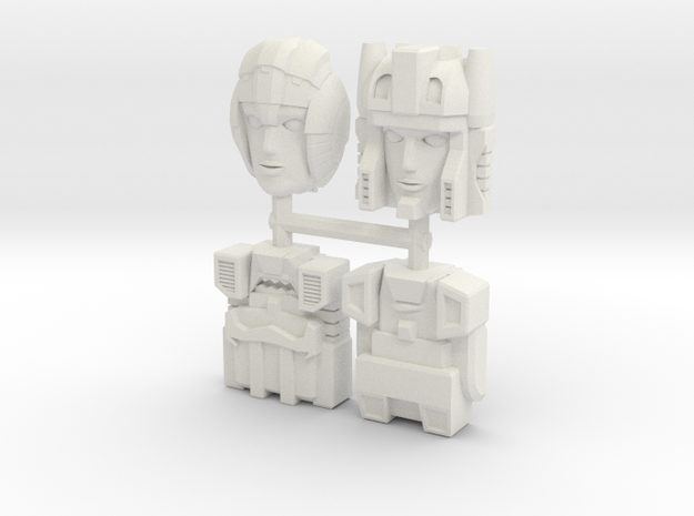 Headmasters Faceplate Four Pack in White Natural Versatile Plastic