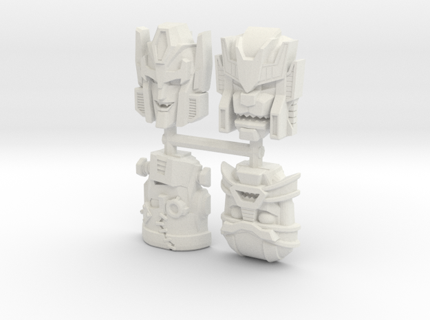 Headmonster Face 4-Pack (Titans Return) in White Natural Versatile Plastic