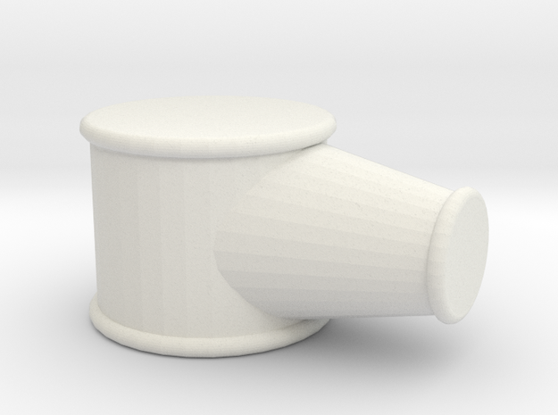 Railroad Lamp Part Resized  in White Natural Versatile Plastic