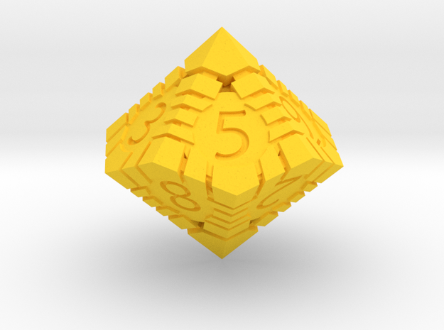 D10 - Andrew Bell 3d - Geometric Design 1 in Yellow Strong & Flexible Polished