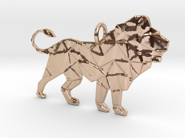 Leo3 Pendant in 14k Rose Gold Plated