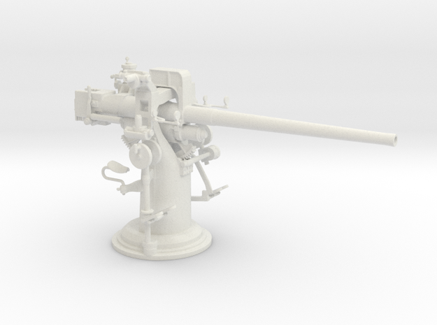 1/24 USN 3 inch 50 [7.62 Cm] Deck Gun in White Natural Versatile Plastic