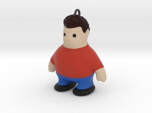 Keychain_FatBoy in Full Color Sandstone