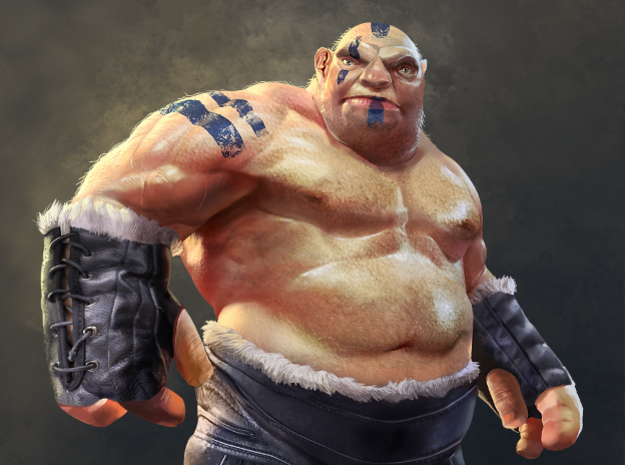 Ogre Miniature in White Strong & Flexible