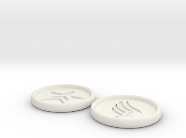 Renegade Paragon Buttons 3 inch in White Strong & Flexible