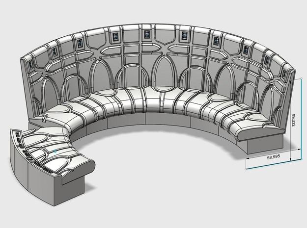 YT1300 1/12 SCALE COUCH