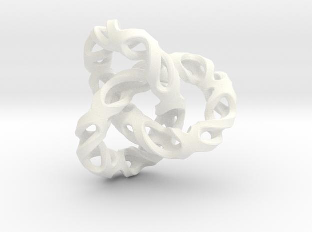 Torus in White Processed Versatile Plastic