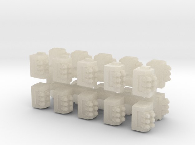 6mm Bolter Sponsons (10pcs) in White Acrylic