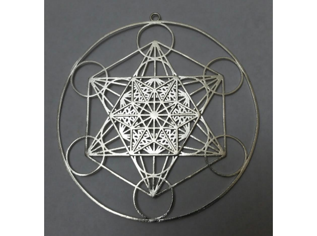 "Super Metatron's Cube 3.3"" in Natural Silver"