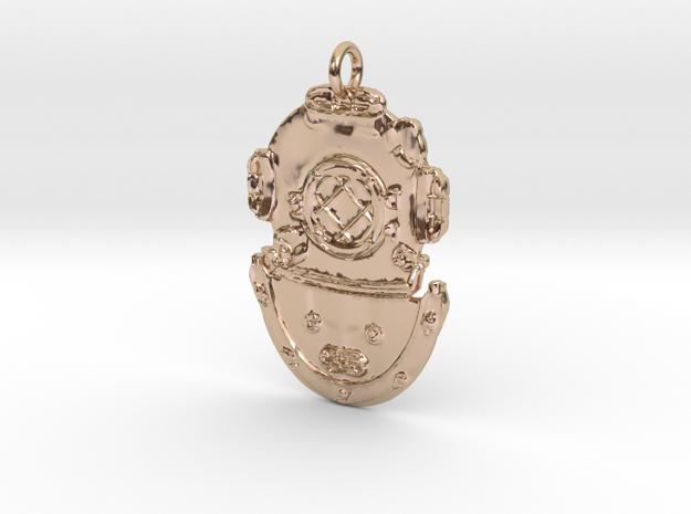 DSDiver Pendant in 14k Rose Gold Plated Brass