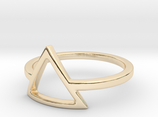 Teepee Ring in 14k Gold Plated: Small