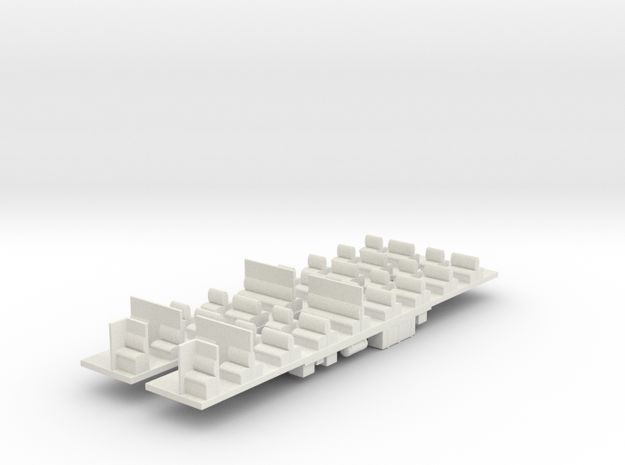 VR Tait M Car Chassis Set in White Natural Versatile Plastic