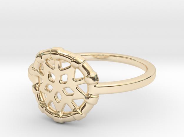 Dreamcatcher Ring in 14k Gold Plated: Medium