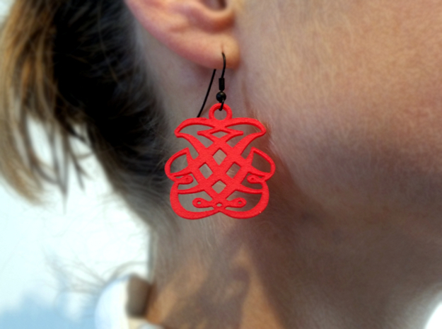 J. S. Bach Monogram earrings in Red Processed Versatile Plastic