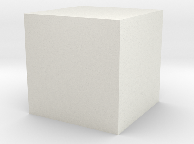 Material Sample 10mm Cube in White Strong & Flexible