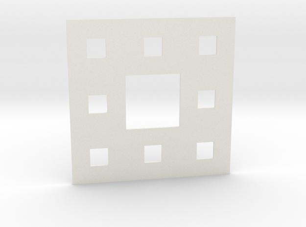 Sierpinski carpet Level 2 in White Strong & Flexible