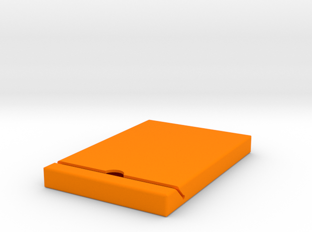 Hard-drive-cover in Orange Processed Versatile Plastic