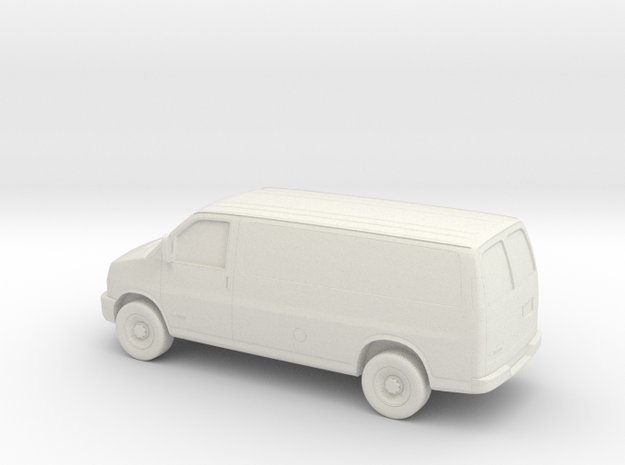 1/43 2003-14 Chevrolet Express Van in White Strong & Flexible