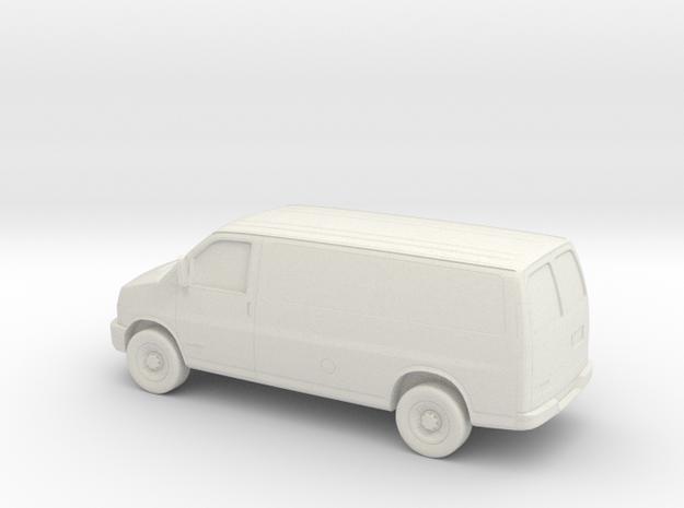 1/43 2003-14 Chevrolet Express Van in White Natural Versatile Plastic