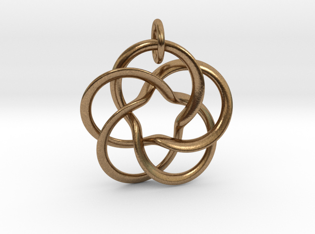 Pentafol starry  in Natural Brass (Interlocking Parts)