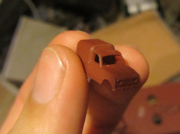 Renault 4 van in 1:160 scale (Lot of 4 cars) 3d printed Prime coat (Paint is not included in the 3D print)