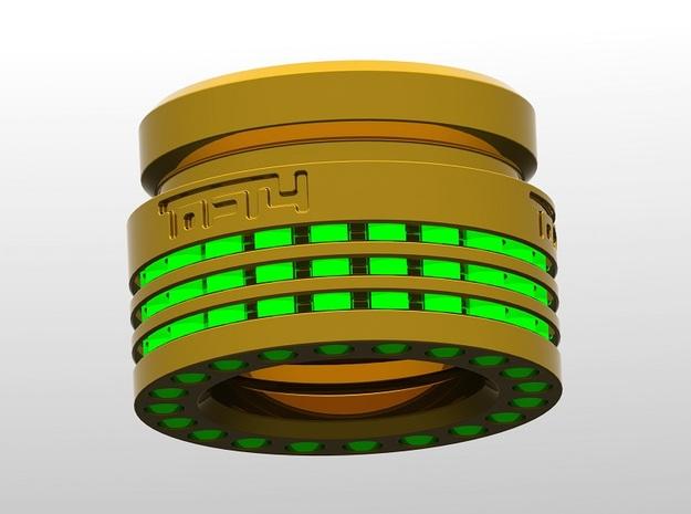 Finned Heatsink 1 for SWM V10R (tritium holes x20) 3d printed
