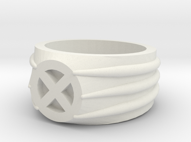 Xmen Ring in White Natural Versatile Plastic