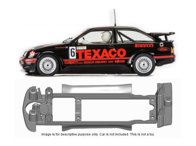 S15-ST4 Chassis for Scalextric Ford Sierra SSD/STD in Black Natural Versatile Plastic