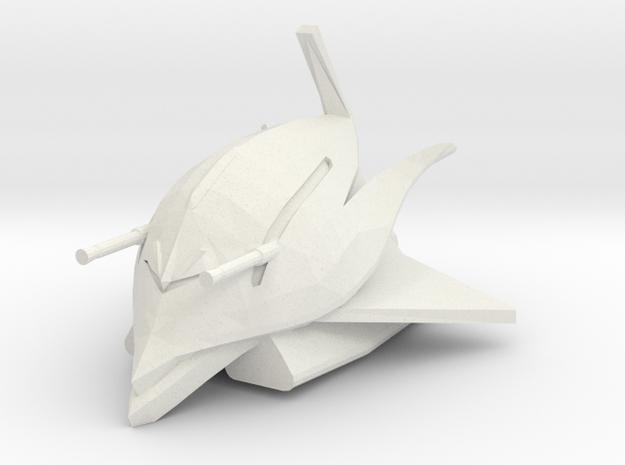 1:2000 MAN-08 Elmeth from Gundam in White Natural Versatile Plastic
