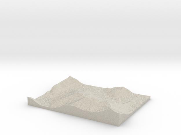 Model of Trace Creek in Natural Sandstone