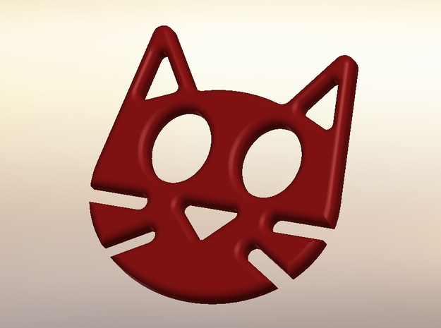 HeadPhoneCat in Red Strong & Flexible Polished