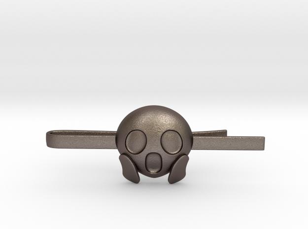 OMG Tie Clip in Polished Bronzed Silver Steel