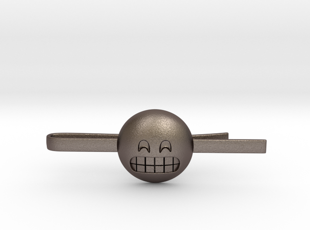 Grinning Tie Clip in Stainless Steel