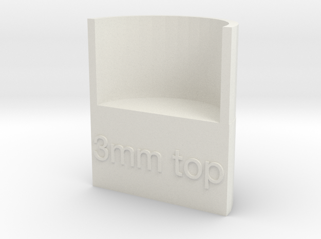 Lasersaur focus: 3mm media, top focus in White Natural Versatile Plastic