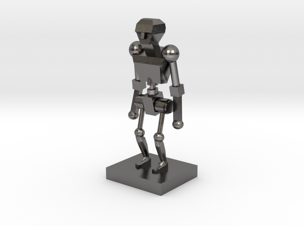 Robot 1 in Polished Nickel Steel