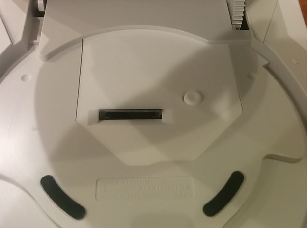 GD2SD Cover for GD-Emu (Dreamcast)  Includes Reset in White Processed Versatile Plastic