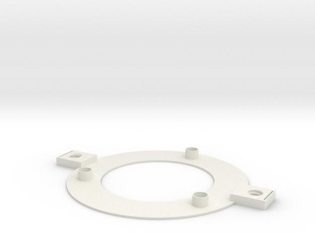 Solid Valve Holder -- Base in White Natural Versatile Plastic