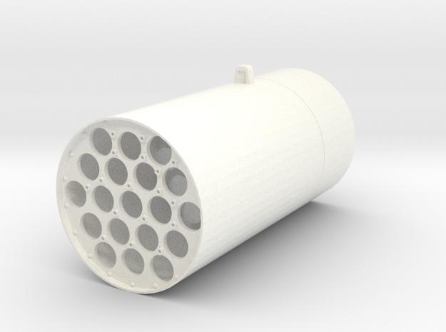 1.8 M261 ROQUETTE LAUNCHER (BC) in White Processed Versatile Plastic