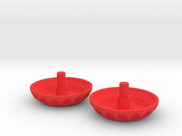 Matilda - Parts 4 & 5: Spin Caps #SAR3DP in Red Processed Versatile Plastic