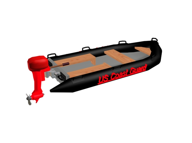 USCG RHIB Pontoon Boat 3d printed RHIB Coast Guard