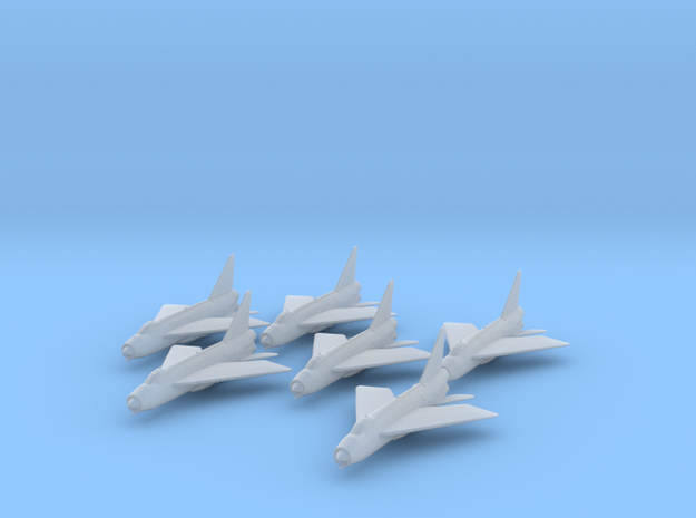 English Electric Lightning 1:285 x6 in Smooth Fine Detail Plastic