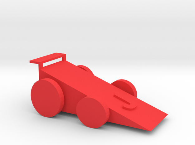 COOL FAST RACE CAR!! in Red Strong & Flexible Polished