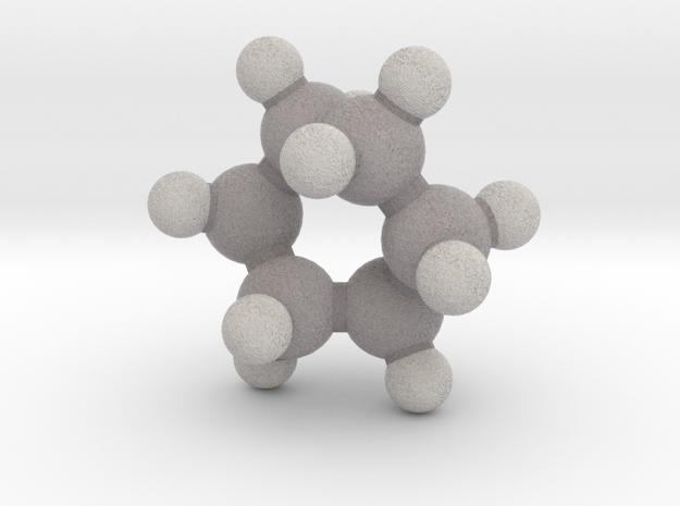 Cyclohexane (twist-boat) in Full Color Sandstone